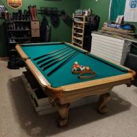 8ft Slate Pool Table