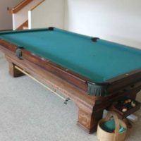 1908 Brunswick Antique Pool Table