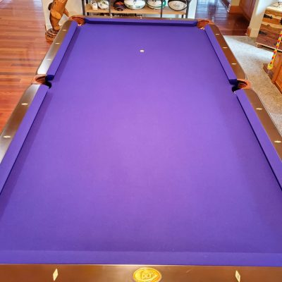 "DLT 8' Hardwood 1"" Slate Pool Table"
